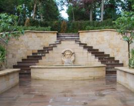 Traditional garden water feature