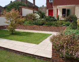 New build garden after being landscaped