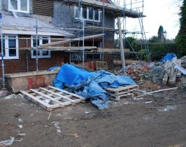 New build garden before being landscaped