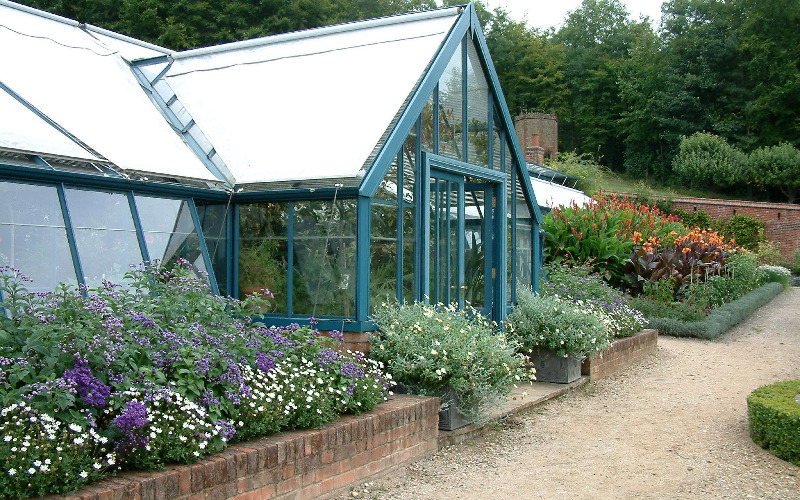 Walled Kitchen Garden. Melon Pit Greenhouse Display Greenhouse ... Part 75